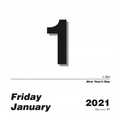 Daily Wall Calendar Pad - Refill 2021, English