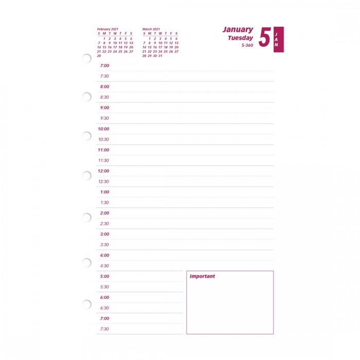 Brownline C7R-2020 for Year 2020 Daily Calendar Pad 6 x 6