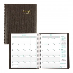 EcoLogix Monthly Planner 2021 Black